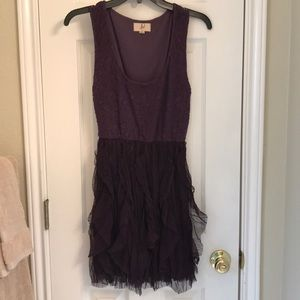 Cute Plum colored ruffled dress, NWOT